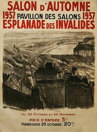 Georges Dufrénoy - Vue de Lyon by Georges Dufrénoy: poster advertising Salon d'Automne of 1937
