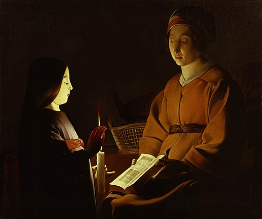 "Georges de La Tour ""L'Education de la Vierge"", ca. 1650, The Frick Collection"