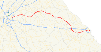 Georgia State Route 10 - Image: Georgia state route 10 map