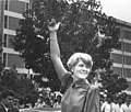 Geraldine Ferraro, first female Vice Presidential candidate running with Presidential candidate Walter Mondale, visits University of Texas at Arlington campus (10006337).jpg