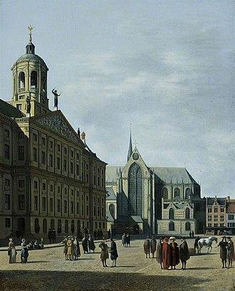 Gerrit Berckheyde - The new City Hall of Amsterdam, 1670s