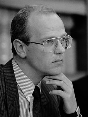 Gerrit Zalm - Gerrit Zalm as the Director of the Bureau for Economic Policy Analysis in 1989.