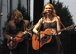 Gillian Welch - Rawlings and Welch performing in Seattle in 2009