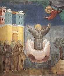 São Francisco de Assis em Extase, obra de Giotto.