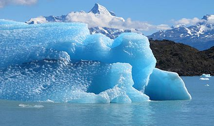 Melting glaciers are causing a change in sea level Glaciers and Sea Level Rise (8742463970).jpg