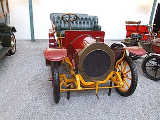 Gladiator Cycle Company - Gladiator Double Phaeton of 1907, 2 cylinder, 2,423 cc, 12 PS, 45 km/h, at Cité de l'Automobile – Musée National – Collection Schlumpf, Mulhouse, France