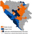 Glasovi za kandidate za hrvatskog člana Predsjedništva BiH, 2018 i zabrana dolaska Komšiću nakon toga.png