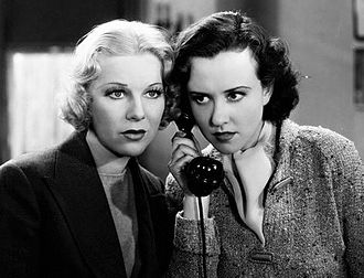 Margaret Lindsay - Lindsay and Glenda Farrell in The Law in Her Hands (1936)