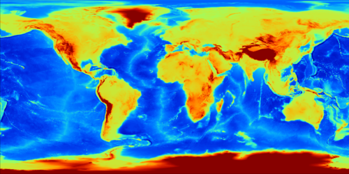 Figure: ETOPO1/SRTM30+ Global Relief Model.