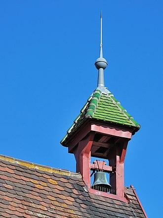 Ridge turret - Ridge turret on Korntal-Münchingen town hall, Baden-Württemberg, Germany