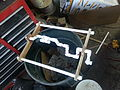 Glued and drying crankshaft.jpg