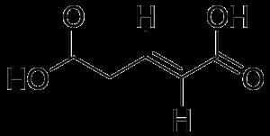 Glutaconic acid - Image: Glutaconic acid trans vinyl H