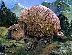 Lebensbild von Glyptodon