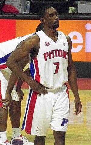 Ben Gordon of the Detroit Pistons during a gam...