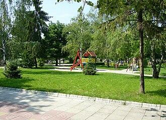 Yambol - Image: Gradinkata pred poshtata