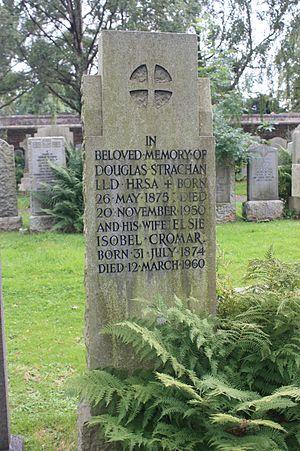 Douglas Strachan - Grave of Douglas Strachan, Dean Cemetery