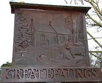 Great Bealings - Image: Great Bealings Sign