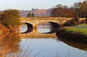 William Gravatt - Gravatt's Great Bow Bridge of 1840, spanning the River Parrett, in Langport, Somerset