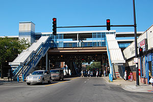 King Drive station - Street level entrance at MLK Jr. Drive just south of 63rd Street.
