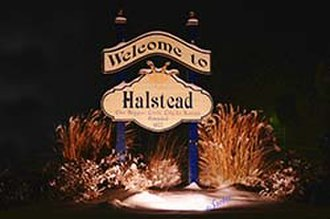 Halstead, Kansas - Greeting Sign (2011)
