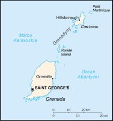 Mapa Grenady