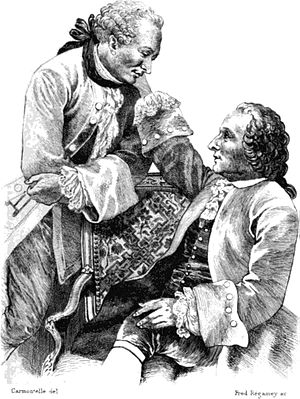 Friedrich Melchior, Baron von Grimm - Denis Diderot and Friedrich Melchior Grimm, drawing by Carmontelle