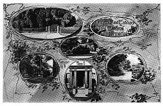 Alfred O. Deshong - Grounds and Entrance of the Deshong Mansion