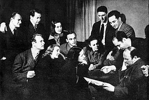 Luther Adler - Luther Adler (back row, second from left) with members of the Group Theatre in 1938