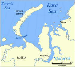 Gulf Of Ob Wikipedia - Ob river on world map