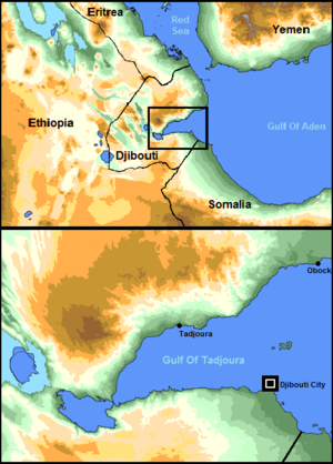 Gulf of Tadjoura - Image: Gulf of Tadjoura area with description