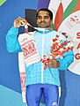 Guru Raja (India) won the gold medal in 56 kg Men's weightlifting, at 12th South Asian Games-2016, in Dispur, Guwahati on February 06, 2016.jpg