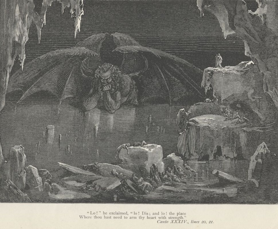Gustave Dore Inferno 34 caption