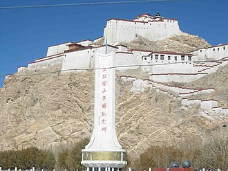 British expedition to Tibet - The Gyantse Dzong today