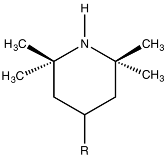 Hindered amine light stabilizers - Partial structure of a typical hindered amine light stabilizer