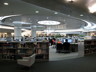 City University of Hong Kong - Image: HK City University Run Run Shaw Library Interior 1