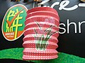 HK Parkn Shop Chinese Mid-autumn Festival pink Lantern green grass in art Sept-2012.JPG