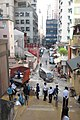 HK SW 上環 Sheung Wan 太平山街 9號 Tai Ping Shan Street 明發樓 Ming Fat House 太歲廟 Tai Sui Temple reservation of stairs 磅巷 Pound Lane December 2017 IX1 LCSD cleaning workers n policemen 02.jpg