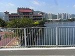 HK Shatin Tai Chung Kiu Road fence view Shatin Floating Restaurant Sept-2012.JPG
