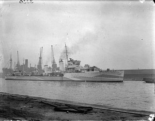 HMS <i>Anthony</i> (H40) A-class destroyer