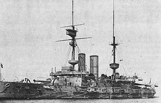 Gulf of Erenköy - Image: HMS Irresistible (1898) in 1908