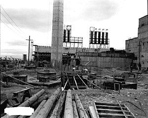 Hanford Site - B Reactor construction (1944)