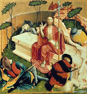 Hans Multscher - Die Auferstehung Christi, Gemäldegalerie, Berlin