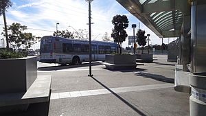 Silver Line (Los Angeles Metro) - Harbor Gateway Transit Center is the southern terminus of the Metro Silver Line.