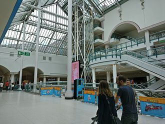 Harlequin Shopping Centre - The open plan mall of the Harlequin, in the year 2016.