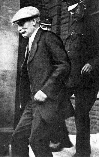 Harold Greenwood (solicitor) - Harold Greenwood being brought to court for his trial