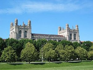 The University of Chicago, as seen from the Mi...