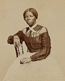 Photo of Tubman sitting