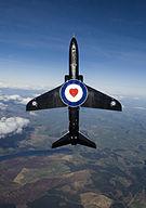 Hawk T1 Aircraft High Above RAF Valley with Benevolent Fund Logo MOD 45150071.jpg