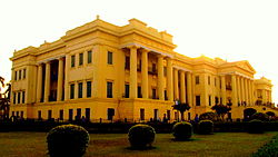 The grounds of Hazarduari Palace, Murshidabad's most famous landmark