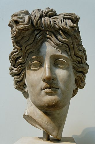 Alexander Stoddart -  A Roman copy of the Head of Apollo of the Belvedere in the British Museum